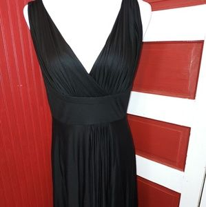 Bryan Bradley Black V-Neck Black Dress